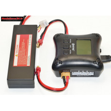 Combo chargeur H4AC double sortie avec batterie 2S 5200 : m1066