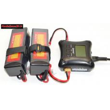 Combo chargeur H4AC double sortie avec 2 batteries 3S 5000 : m1068