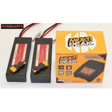 Combo chargeur Multipeak Konect + 2 batteries 2S 5200 + XT60 : m1071