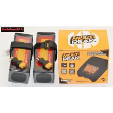 Combo chargeur Multipeak Konect + 2 batteries 3S 5000 + XT60 : m1075