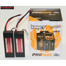 Combo chargeur Pro Duo Konect + 2 batteries 2S 5200 : m1077