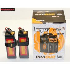 Combo chargeur Pro Duo Konect + 2 batteries 3S 5000 + XT60 : m1081