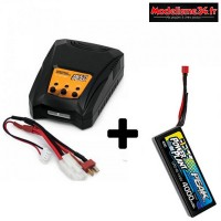 Combo chargeur Multipeak Konect + 1 batterie 4S 4000 : m0002