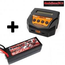 Combo Chargeur AC / DC Multi100 + 1 batteries 4S 6200 : m0001