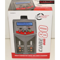 Chargeur Cube Duo 80w AC/DC : RC-CHA-211