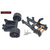 kit montage support d'aileron anti wheeling pour Pirate XT-S - m1331
