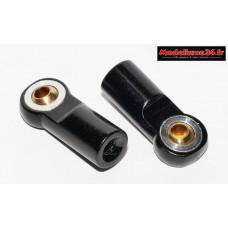 Chapes alu / laiton M3 noires ( 2 ) - m614