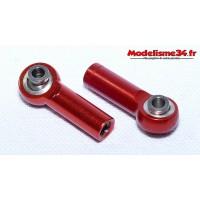 Chapes alu M4 rouge ( 2 ) - m124