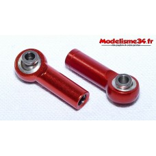 Chapes alu M4 rouge ( 2 ) - m124