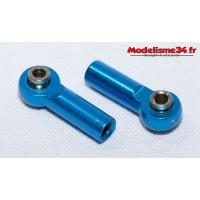 Chapes alu M4 bleu pas inversé ( 2 ) - m611