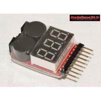 Buzzer alarme Lipo/Li-ion indicateur de basse tension : m1099