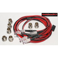 Kit éclairage 8 leds ( 4 blanches et 4 rouges ) : m905