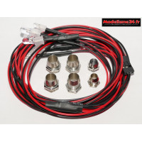 Kit éclairage 6 leds ( 2 blanches, 2 rouges 5mm et 2 bleues 3mm ) : m903