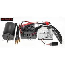 Combo brushless 60Amp + moteur 4P 3650 2300Kv + carte de prog : m1232