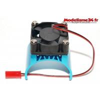 Radiateur bleu avec ventilateur pour moteur type 540 / 550 / 3650 : m10