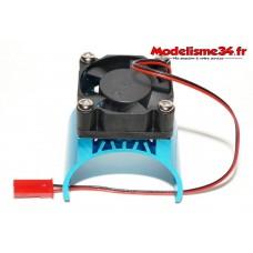 Radiateur bleu avec ventilateur pour moteur type 540 / 550 / 3650 : m1135