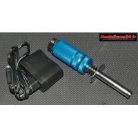 Chauffe bougie bleu 1800mah avec son chargeur et son vumétre : m383