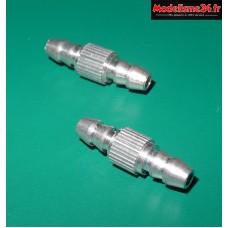 Coupleur de durites en aluminium (2 pcs) : S0443160