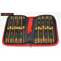 Sacoche de 16 outils métrique noir / doré : m207or
