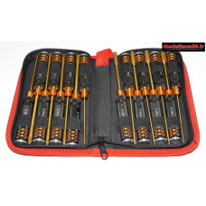 Sacoche de 16 outils métrique noir / orange : m207B