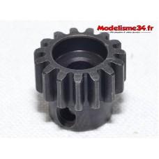 Pignon moteur M1 15 dents acier serie light - m24