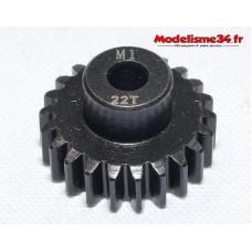 Pignon moteur M1 22 dents acier serie light - m31