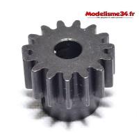 Pignon moteur M1 15 dents acier plein - m05