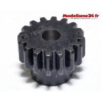 Pignon moteur M1 16 dents acier plein - m06