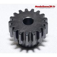 Pignon moteur M1 17 dents acier plein : m07