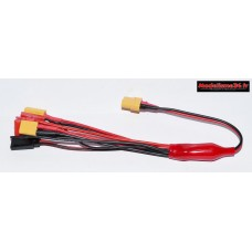 Cable de charge multi fonctions XT60 6 prises : m1009