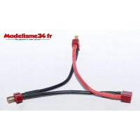 Cable adaptateur Y deans montage 2x2S : m1015