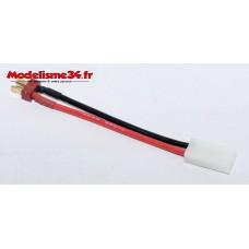 Câble adaptateur prise Tamiya mâle / prise deans mâle : m1016