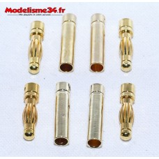 Prises PK 4mm (  4 paires ) : m1035
