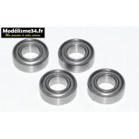 Kit 4 roulements de roues 6x12x4 pour T2M Zombie, Puncher 2 .... : m1344