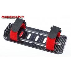 Support batterie carbone 2s à 3s avec sangles : m1161