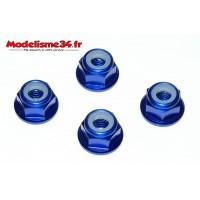 Nylstop épaulés alu M4 bleu - m155