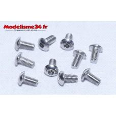 Vis acier inox tête bombée M3x6 (10pcs) : m166