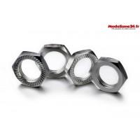 Écrous de roue verrouillage 17mm argent (4)  - ABSIMA 2560008