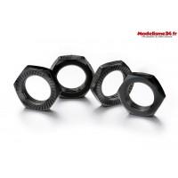 Écrous de roue verrouillage 17mm noir (4)  - ABSIMA 2560006
