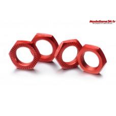 Écrous de roue verrouillage 17mm rouge (4)  - ABSIMA 2560007