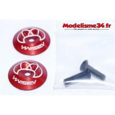 Rondelles d'aileron alu rouge Absima : m568