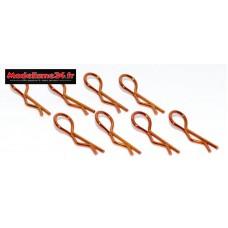 Clips de carrosserie 1/10 orange ( 8 ) : m590