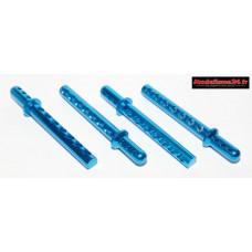 Supports carrosserie alu bleus 6mm ( 4 ) : m639