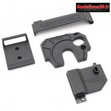 Support moteur + capot batterie + capot recepteur: FTK-21026