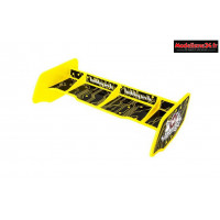 HobbyTech - Aileron buggy 1/10 plastique jaune+stickers : HT-501552