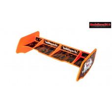 HobbyTech - Aileron buggy 1/10 plastique orange+stickers : HT-501553