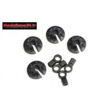 HobbyTech - Kit chappes et coupelles amortisseurs : REV-171