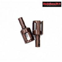 Hobbytech - Noix de diff allegées traitées dur (arrière) (x2) - STRS-131