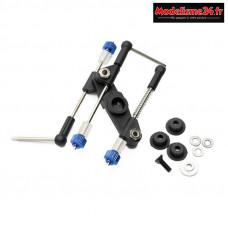 Hobbytech - Kit tringlerie noire GAZ/FREIN universel : HT-510018-BK