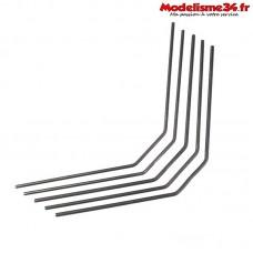 Hobbytech - Kit de barre stabilisatrice arriere 2.3/2.4/2.5/2.6/2.7 mm - STRX-153